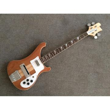 Custom Made Rickenbacker Mahogany Wood Body Natural 4003 Bass