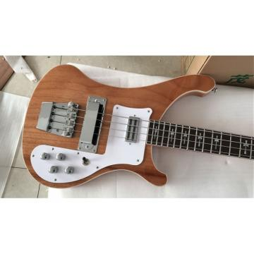 Custom Made 4003 NaturalGlo Mahogany Wood Cross Inlays Bass