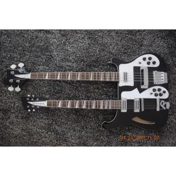 Custom Made 4003 Double Neck Mike Rutherford of Genesis 4 String Bass 6/12 String Option Guitar