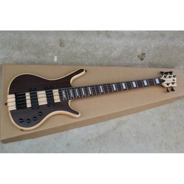 Custom LTD Corvette 5 Strings Dark Brown Electric Bass
