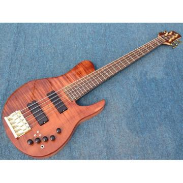 Custom Fordera Active Pickups 5 String Solid Flame Maple Top Bass