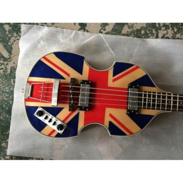 Custom Hofner Jubilee Union Jack Paul Mcartney Violin Bass Guitar