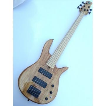 Custom Fordera 5 String Solid Maple Bass