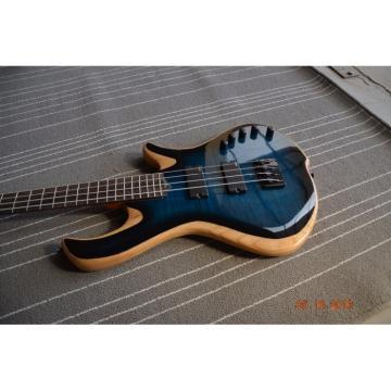 Custom Built Blue Flame Maple Top 4 String Bass