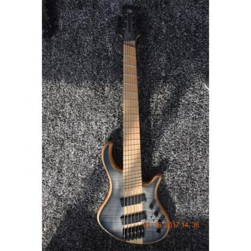 Custom Built Mayones Gray Flame Maple Top 6 String Electric Bass