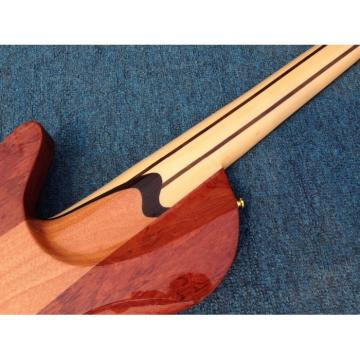 Custom Fordera Palisander Body Active Pickups 5 String Solid Flame Maple Top Bass