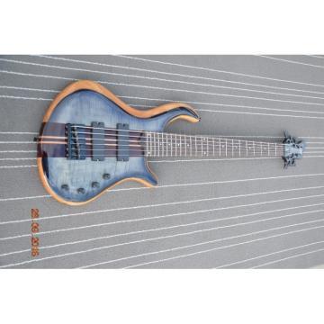Custom Built Gray Flame Maple Top Patriot 6 String Bass
