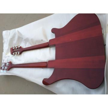 Custom 4080 Double Neck Geddy Lee Burgundyglo 4 String Bass 6/12 String Guitar Left Handed