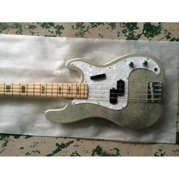 Custom Shop Sparkle Silver Jazz Bass Silver Dust Metallic P Bass Guitar