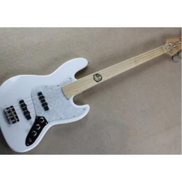Custom Shop White Reverse Headstock Geddy Lee 4 String Jazz Bass