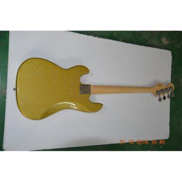 Custom Shop Sparkle Gold Jazz Silver Dust Metallic Bass Guitar