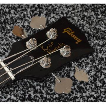 Custom Shop Thunderbird Krist Novoselic Black 4 String Bass Ebony Fretboard