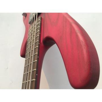 Custom Shop Red Ashwood 4 String Bass Wilkinson Pickups