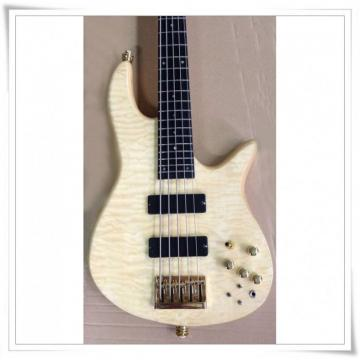 Custom Shop Natural Flame Maple Top 5 String Bass