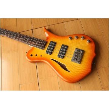 Custom Shop Languedoc 4 String Bass Orange Flame Maple Top