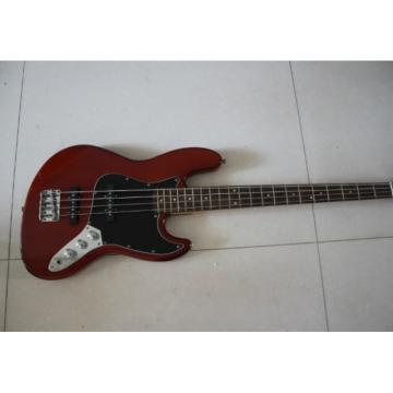 Custom Shop Burgundy Geddy Lee 4 String One Piece Mahogany Neck Jazz Bass
