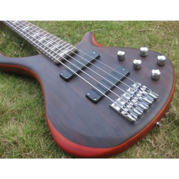 Custom Shop Burgundy Edge Sapelle with Rosewood Top 5 String Electric Bass Wenge
