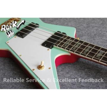 Custom Shop Explorer Sea Foam Green Teal 4 String Bass