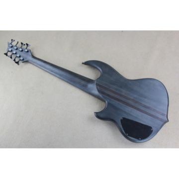 Custom Shop 8 String Matte Black Mongrel Ken Smith Bass