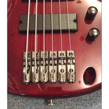 Custom Shop 6 String Burgundy Electric Bass