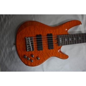 Custom Shop 6 String Orange Quilted Maple Top Yamaha Bass