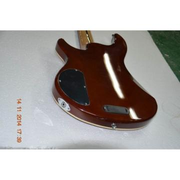 Custom Shop 5 Strings Red Brown Quilted Maple Body 9V Battery Bass
