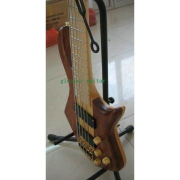 Custom Shop 5 Strings Natural Wood Neck Through Body Bass
