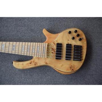 Custom Butterfly Fodera 6 Strings Bass Natural Finish