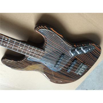 Custom Fender Zebra Wood Geddy Lee Jazz Bass 4 String