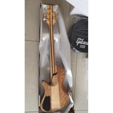 Custom Built Butterfly Fodera 5 Strings Bass Natural Finish Ebony Fingerboard Ramp