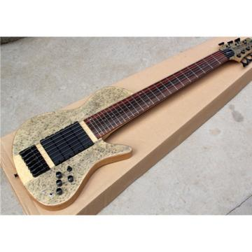 Custom Ash Wood Neck Through Body Birds Eye 7 String Bass