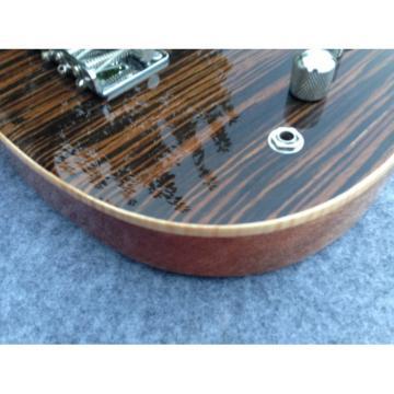 Custom American Vintage 5 String Bass Zebra Finish F Hole