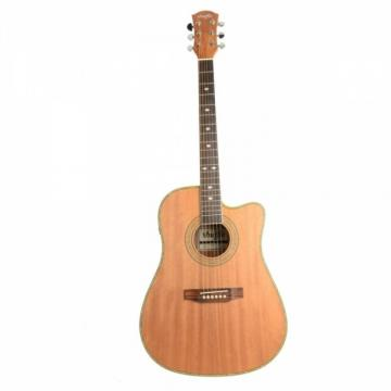 "Shuffle 41"" Cutaway Electric Acoustic Guitar Coffee with Pick Strings"