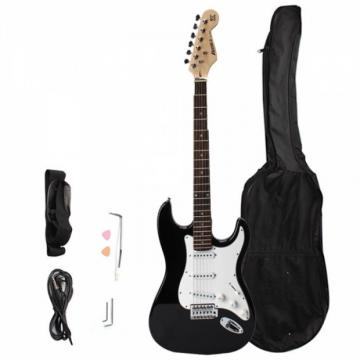 Rosewood Fingerboard Electric Guitar with Gig bag & Accessories Monochrome