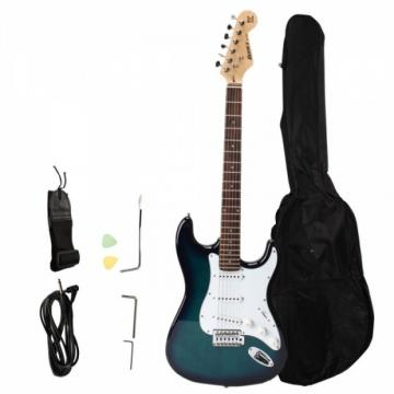 Rosewood Fingerboard Electric Guitar with Gig bag & Accessories Blue