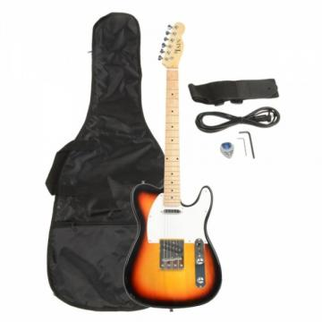 Professional Electric Guitar Sunset with Amplifier Bag Strap Tool Pick