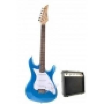 Metallic Blue Electric Guitar with 10Watt Amp Package