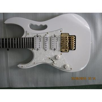 Left Handed Ibanez Jem7v White Electric Guitar