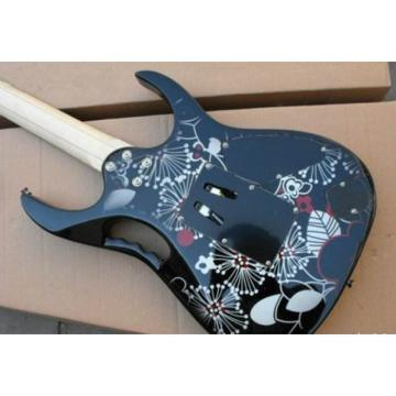 Left Handed Ibanez Jem7v Flower Electric Guitar