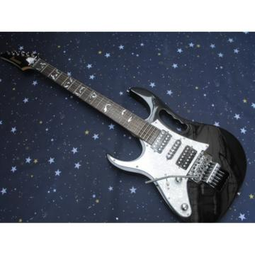 Left Handed Ibanez Jem7v Black Electric Guitar