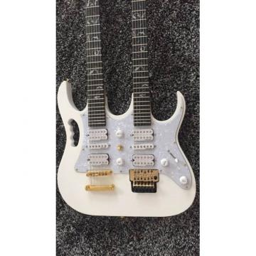 JEM7V White Double Neck 6/12 Strings Electric Guitar