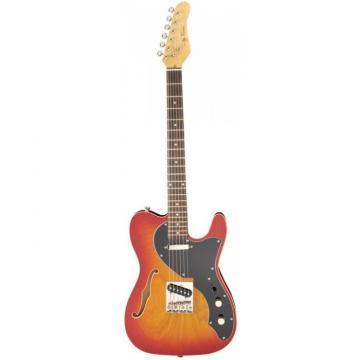 Jay Turser LT-CRUSDLX Series Electric Guitar Cherry Sunburst