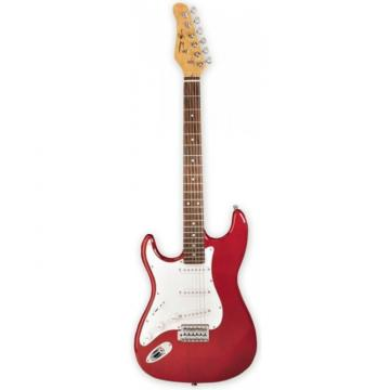 Jay Turser 300 Series Electric Guitar, Left Handed Trans Red