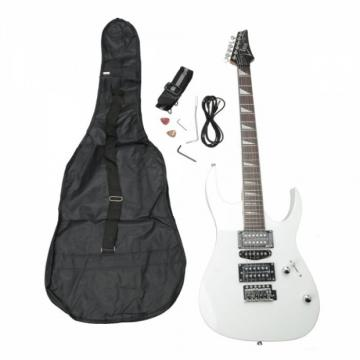 IRIN Professional Electric Guitar White with Bag Strap Pick Tremolo Bar Cable