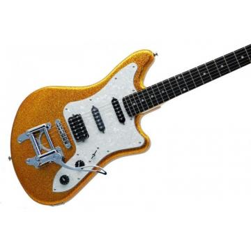 Eko Camaro Gold Sparkle Italian Designed Electric Guitar With Vintage Tremolo