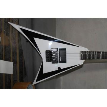 Custom Shop Flying V Jackson Artic White Electric Guitar