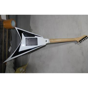 ESP Flying V White Black Electric Guitar