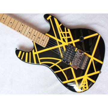 Custom Yellow EVH Black Electric Guitar