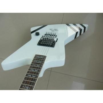 Custom White Boris Dommenget Electric Guitar