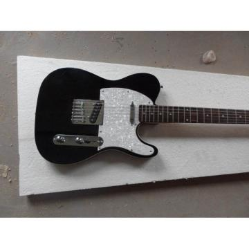 Custom Telecester 6 Strings Black Electric Guitar